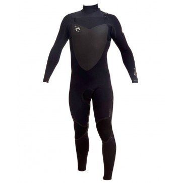 Rip Curl Flash Bomb 4/3 Chest Zip Wetsuit  - Black/Black/Black (BLK)