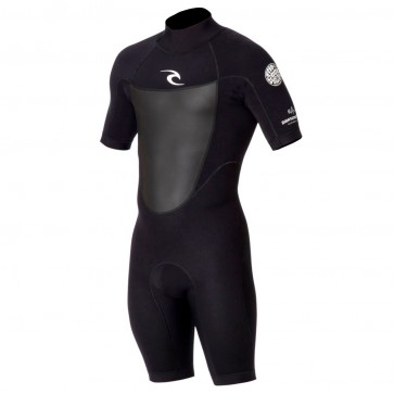 Rip Curl Dawn Patrol S/S Back Zip Spring Wetsuit - Black