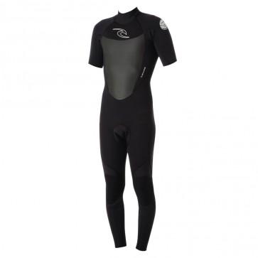 Rip Curl Wetsuits Dawn Patrol 2mm Short Sleeve Back Zip Wetsuit - Black