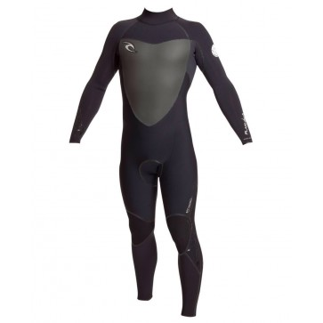 Rip Curl Flash Bomb 3/2 Back Zip Wetsuit - Black/Black/Black (BLK)