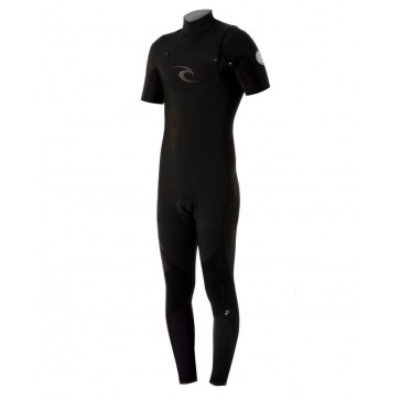 Rip Curl E-Bomb 2mm S/S Chest Zip Wetsuit - Black