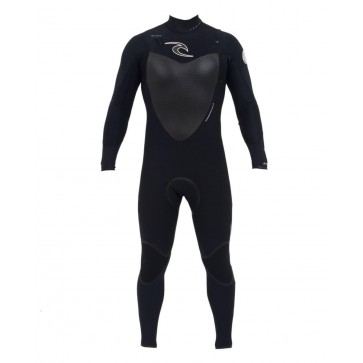 Rip Curl Flash Bomb Plus 3/2 Chest Zip Wetsuit - Black