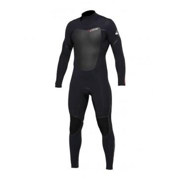 Quiksilver Pyre 3/2 Back Zip Wetsuit - Black