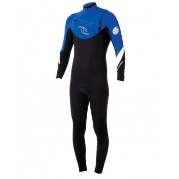 Rip Curl Dawn Patrol 4/3 Chest Zip Wetsuit - Blue