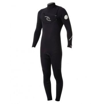 Rip Curl Dawn Patrol 4/3 Chest Zip Wetsuit - Black
