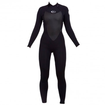 Rip Curl Women's Dawn Patrol 4/3 Back Zip Wetsuit - Black