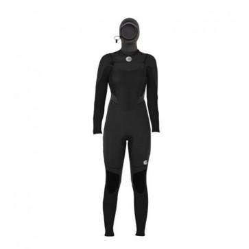 Billabong Women's Synergy 5/4 Hooded Chest Zip Wetsuit