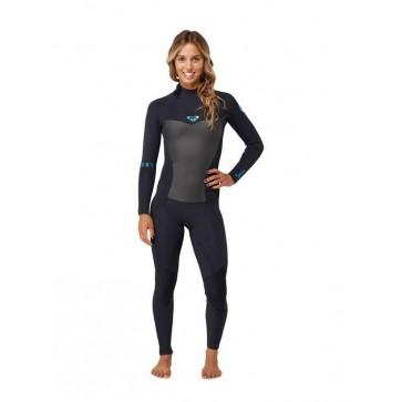 Roxy Syncro 3/2 GBS Back Zip Wetsuit - Black
