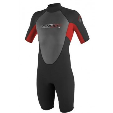 O'Neill Youth Reactor Spring Suit Wetsuit - Black/Red/Graphite