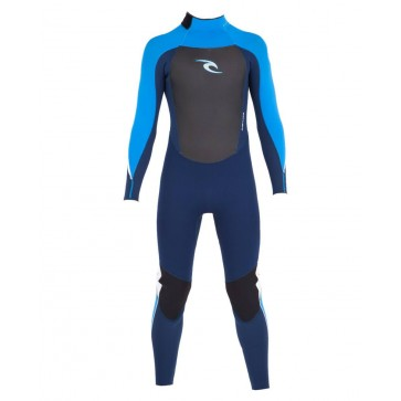 Rip Curl Youth Dawn Patrol 4/3 GB Back Zip Wetsuit - Navy