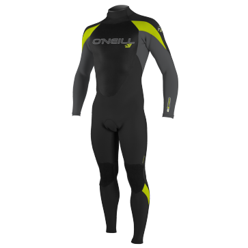 O'Neill Youth Epic 4/3 Wetsuit - Black/Smoke/Lime