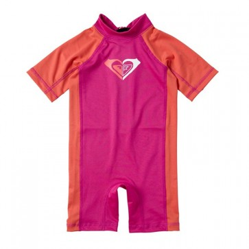 Roxy Toddler Smash Hit Rash Guard Spring Suit - Pink