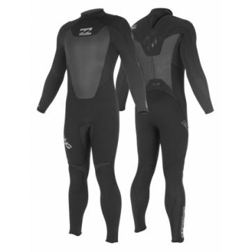 Billabong Foil 5/4 Back Zip Wetsuit - Black