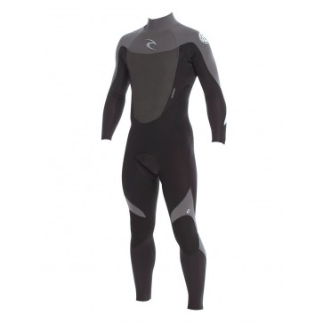 Rip Curl Dawn Patrol 3/2 Back Zip GBS Wetsuit - Black/Charcoal