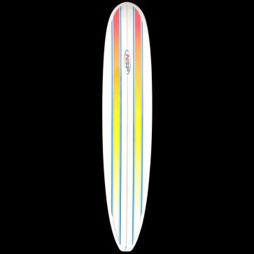 Global Surf Industries - 9'6'' NSP Longboard Surfboard - Orange Pin Lines
