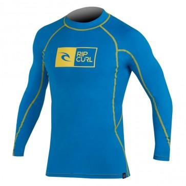 Rip Curl Wetsuits Ripawatu Long Sleeve Rash Guard - Blue