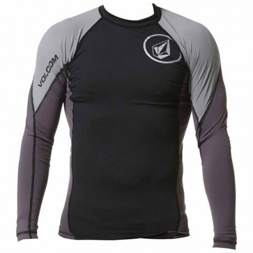 Volcom Colorblock L/S Rash Guard - Black