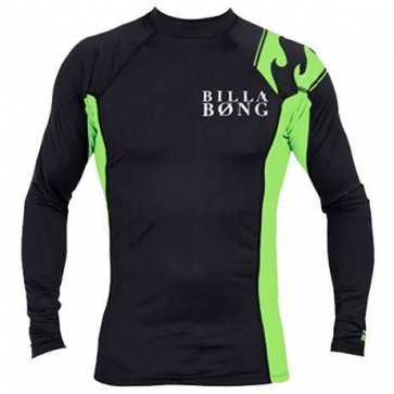 Billabong Double Duty L/S Rash Guard - Black