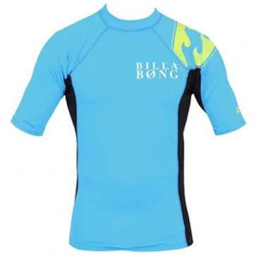 Billabong Double Duty S/S Rash Guard - New Blue