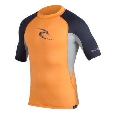 Rip Curl Wetsuits Wave Short Sleeve Rash Guard - Orange