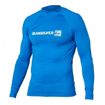 Quiksilver Wetsuits Phaser Long Sleeve Rash Guard - Aster Blue