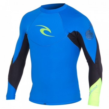 Rip Curl Wetsuits E-Bomb Pro 1mm Long Sleeve Jacket - Blue