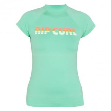 Rip Curl Wetsuits Womens Sunrise Cap Sleeve Rash Guard - Mint