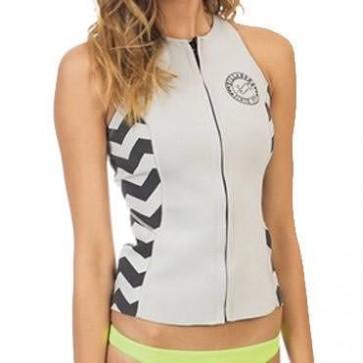 Billabong Women's 2mm Sneeky Front Zip Vest - Sandy Toes