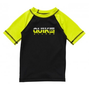 Quiksilver Wetsuits Toddler Extra Extra Short Sleeve Rash Guard - Black/Green