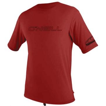 O'Neill Basic Skins Rash Tee - Dark Red