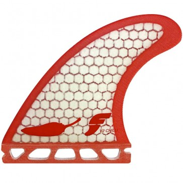Futures Fins - Chilli V2 - White/Red Hex