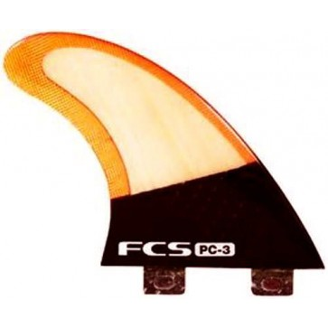 FCS Fins - PC-3 Bamboo - Bamboo/Red