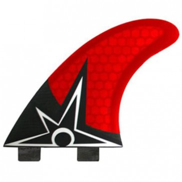 Kinetik Racing Fins - Bruce Irons Carbon Ultra FCS - Red/Black