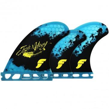 Futures Fins - Josh Mulcoy Tri Quad - Black/Blue Hex