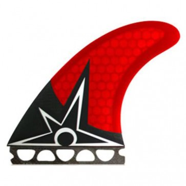 Kinetik Racing Fins - Bruce Irons Carbon Ultra Future - Red/Black