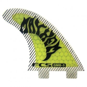 FCS Fins - GMB PC - Neon Green/Black Hex