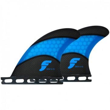 Futures Fins - QD2 3.75'' Quad Rears Techflex - Carbon/Blue