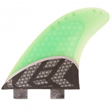 Kinetik Racing Fins - Parko Quad Carbon Ultra FCS - Neon Aqua Green