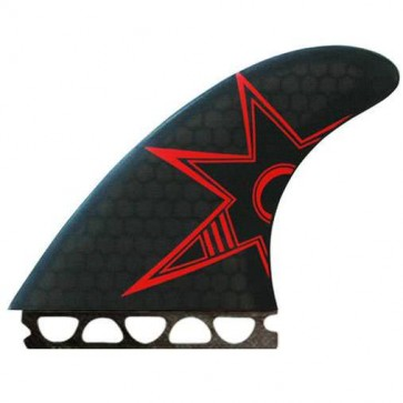 Kinetik Racing Fins - Bruce Irons Ultra Core Future - Black/Red