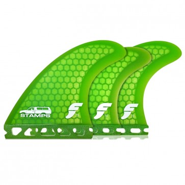 Futures Fins - Stamps Tri-Quad - Light Green