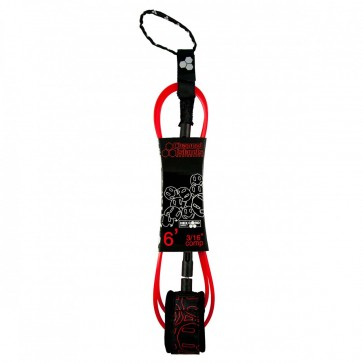 Channel Islands Conner Coffin Comp Hex Cord Leash - Black/Red