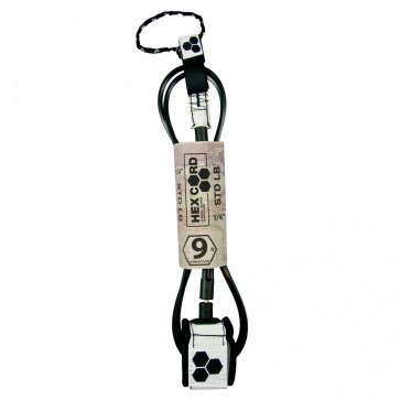 Channel Islands - Hex Cord Longboard Leash - White/Black