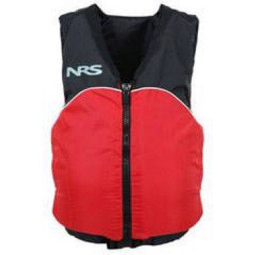 NRS - Crew Universal Adult PFD Vest - Black/Red