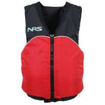 NRS - Crew Universal Adult PFD Vest - Black/Red