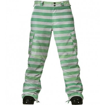 Burton Cargo Pants - Absynthe Green Stripe