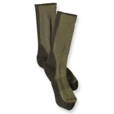Patagonia Midweight Hiking Crew Socks - Sage/Khaki