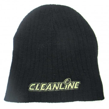 Cleanline Corp Logo Short Cable Beanie - Black/Army Green