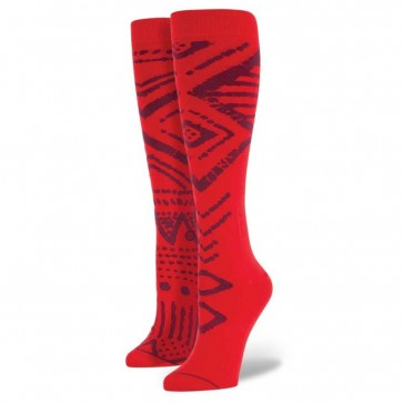 Stance Women's Tribal Socks - Red