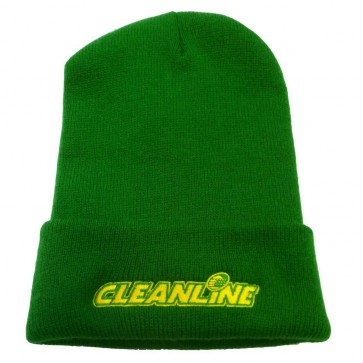 Cleanline Corp Logo Long Beanie - Green/Yellow