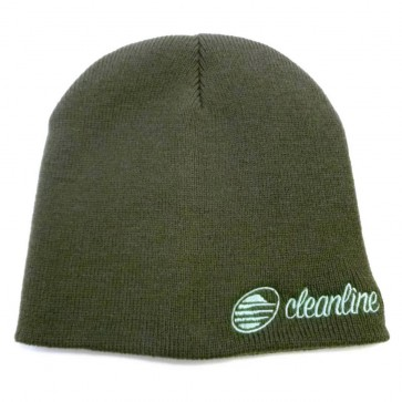 Cleanline Cursive Short Beanie - Charcoal/Teal